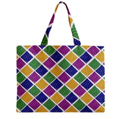 African Illutrations Plaid Color Rainbow Blue Green Yellow Purple White Line Chevron Wave Polkadot Mini Tote Bag