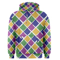 African Illutrations Plaid Color Rainbow Blue Green Yellow Purple White Line Chevron Wave Polkadot Men s Pullover Hoodie