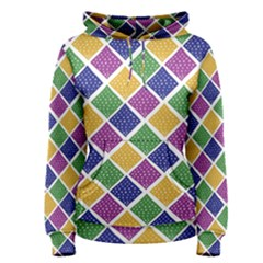 African Illutrations Plaid Color Rainbow Blue Green Yellow Purple White Line Chevron Wave Polkadot Women s Pullover Hoodie