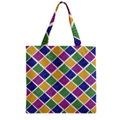 African Illutrations Plaid Color Rainbow Blue Green Yellow Purple White Line Chevron Wave Polkadot Zipper Grocery Tote Bag