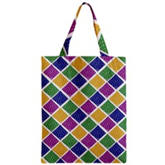 African Illutrations Plaid Color Rainbow Blue Green Yellow Purple White Line Chevron Wave Polkadot Zipper Classic Tote Bag