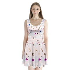 Cheers Polkadot Circle Color Rainbow Split Back Mini Dress