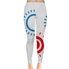 Color Light Effect Control Mode Circle Red Blue Leggings