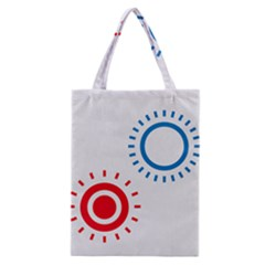 Color Light Effect Control Mode Circle Red Blue Classic Tote Bag