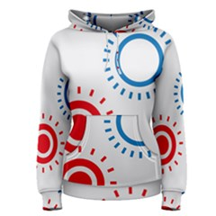 Color Light Effect Control Mode Circle Red Blue Women s Pullover Hoodie