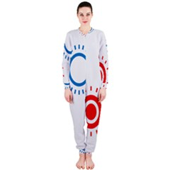 Color Light Effect Control Mode Circle Red Blue OnePiece Jumpsuit (Ladies)