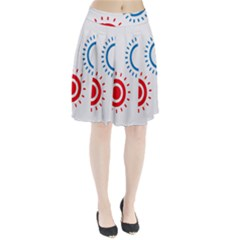 Color Light Effect Control Mode Circle Red Blue Pleated Skirt