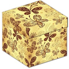 Butterfly Animals Fly Purple Gold Polkadot Flower Floral Star Sunflower Storage Stool 12