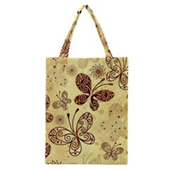 Butterfly Animals Fly Purple Gold Polkadot Flower Floral Star Sunflower Classic Tote Bag
