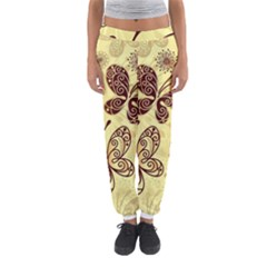 Butterfly Animals Fly Purple Gold Polkadot Flower Floral Star Sunflower Women s Jogger Sweatpants
