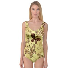 Butterfly Animals Fly Purple Gold Polkadot Flower Floral Star Sunflower Princess Tank Leotard
