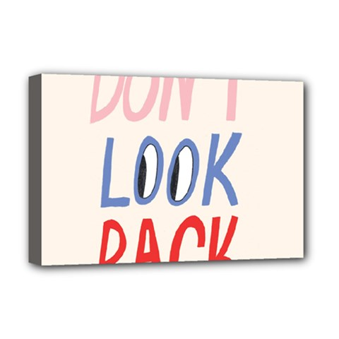 Don t Look Back Big Eye Pink Red Blue Sexy Deluxe Canvas 18  x 12