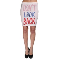 Don t Look Back Big Eye Pink Red Blue Sexy Bodycon Skirt