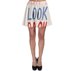 Don t Look Back Big Eye Pink Red Blue Sexy Skater Skirt
