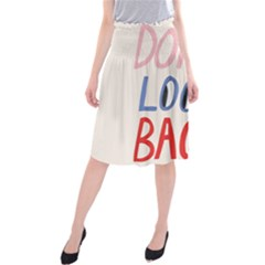 Don t Look Back Big Eye Pink Red Blue Sexy Midi Beach Skirt