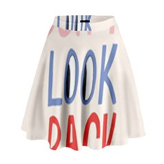 Don t Look Back Big Eye Pink Red Blue Sexy High Waist Skirt