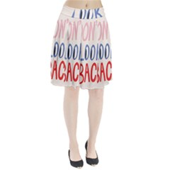 Don t Look Back Big Eye Pink Red Blue Sexy Pleated Skirt