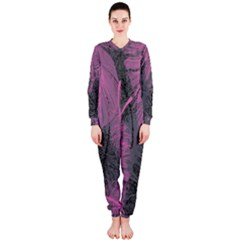 Feathers Quill Pink Grey OnePiece Jumpsuit (Ladies)