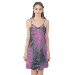 Feathers Quill Pink Grey Camis Nightgown