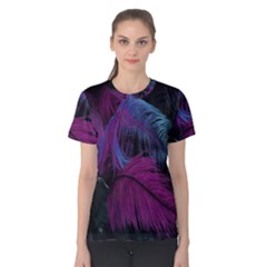 Feathers Quill Pink Black Blue Women s Cotton Tee