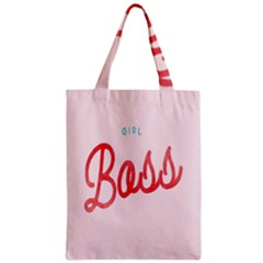 Girl Boss Pink Red Blue Sexy Zipper Classic Tote Bag
