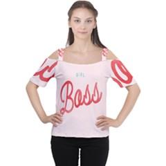 Girl Boss Pink Red Blue Sexy Women s Cutout Shoulder Tee