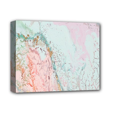 Geode Crystal Pink Blue Deluxe Canvas 14  x 11