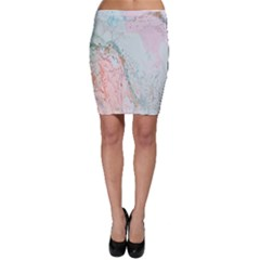 Geode Crystal Pink Blue Bodycon Skirt