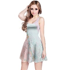 Geode Crystal Pink Blue Reversible Sleeveless Dress