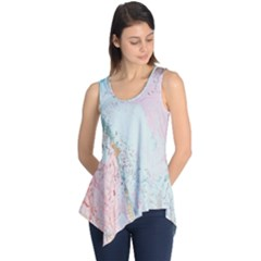 Geode Crystal Pink Blue Sleeveless Tunic