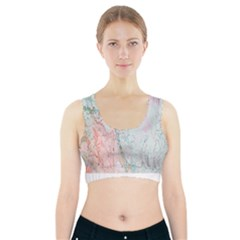 Geode Crystal Pink Blue Sports Bra With Pocket