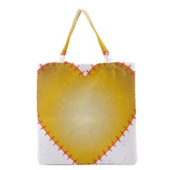 Heart Rhythm Gold Red Grocery Tote Bag