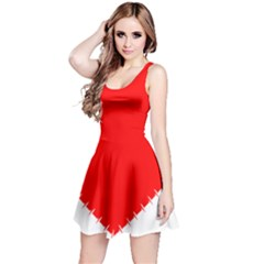 Heart Rhythm Inner Red Reversible Sleeveless Dress