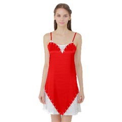 Heart Rhythm Inner Red Satin Night Slip