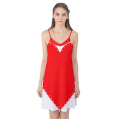 Heart Rhythm Inner Red Camis Nightgown