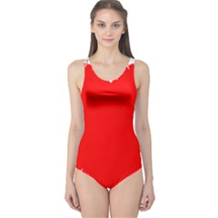 Heart Rhythm Inner Red One Piece Swimsuit