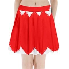 Heart Rhythm Inner Red Pleated Mini Skirt