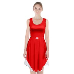 Heart Rhythm Inner Red Racerback Midi Dress