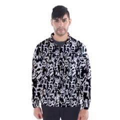 Deskjet Ink Splatter Black Spot Wind Breaker (Men)