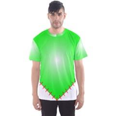 Heart Rhythm Inner Green Red Men s Sport Mesh Tee