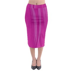 Abstraction Midi Pencil Skirt