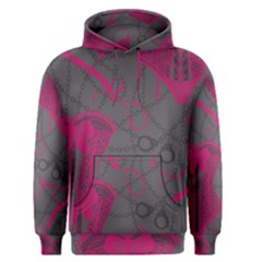 Pink Black Handcuffs Key Iron Love Grey Mask Sexy Men s Pullover Hoodie