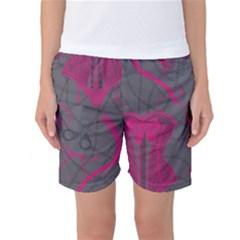Pink Black Handcuffs Key Iron Love Grey Mask Sexy Women s Basketball Shorts