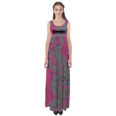 Pink Black Handcuffs Key Iron Love Grey Mask Sexy Empire Waist Maxi Dress