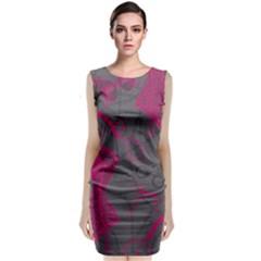 Pink Black Handcuffs Key Iron Love Grey Mask Sexy Classic Sleeveless Midi Dress
