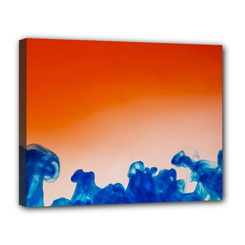 Simulate Weather Fronts Smoke Blue Orange Canvas 14  x 11