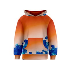 Simulate Weather Fronts Smoke Blue Orange Kids  Pullover Hoodie