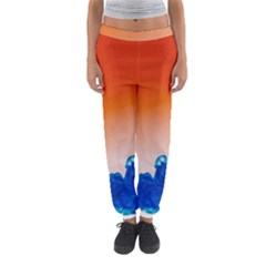 Simulate Weather Fronts Smoke Blue Orange Women s Jogger Sweatpants