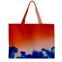 Simulate Weather Fronts Smoke Blue Orange Medium Tote Bag