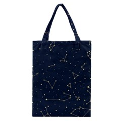 Star Zodiak Space Circle Sky Line Light Blue Yellow Classic Tote Bag